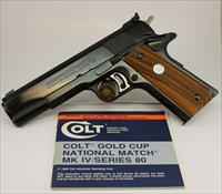 Colt Series 80 MkIV GOLD CUP NATIONAL MATCH semi-automatic pistol .45acp ~ ORIGINAL MANUAL INCLUDED