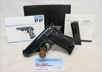 Walther PPK/S semi-auto pistol ~ .380ACP (9mm Kurz) ~ BOX, MANUAL & TEST TARGET ~ 1975 Mfg. ~ WEST GERMANY