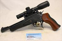 Thompson Center CONTENDER Break Action Pistol ~ .222 Remington ~ Hammers 2x20 Scope ~ NO MASS SALES