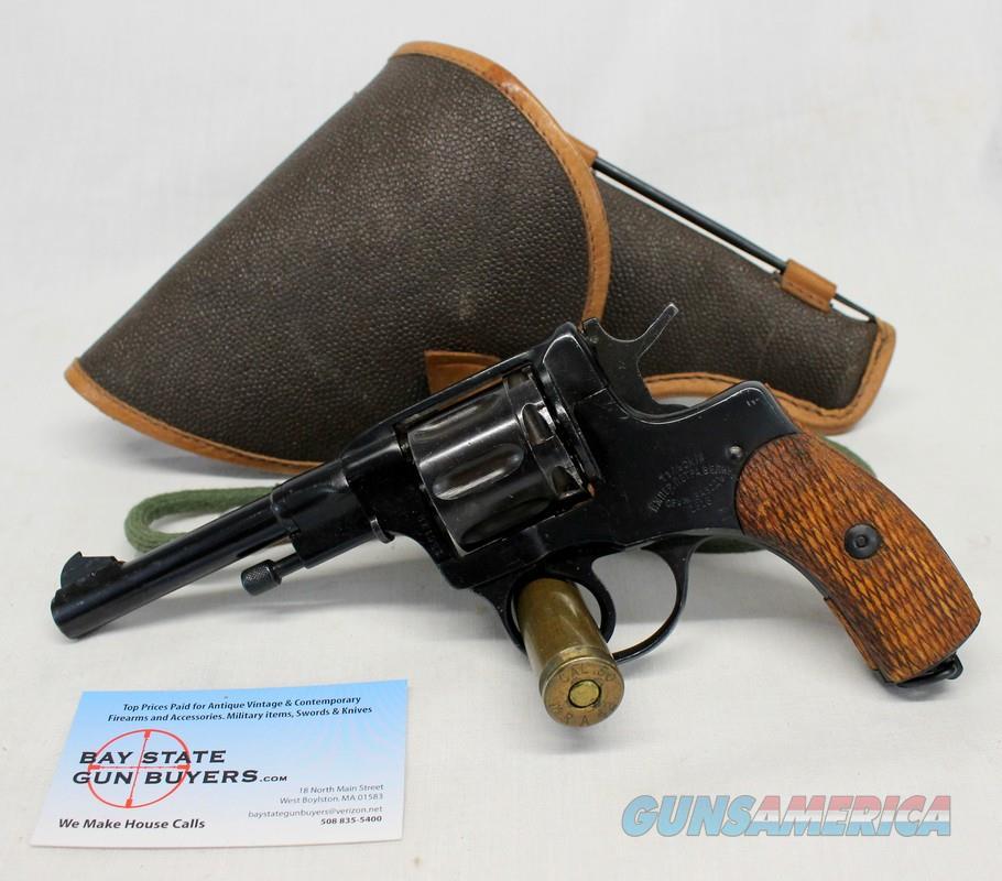 Russian Mosin Nagant MODEL 1895 revolver ~ 7 62x25 &  32 ACP ~ 1916 Mfg  ~  HOLSTER, AMMO, CLEANING ROD & EXTRA CYLINDER