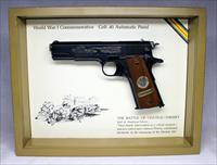 Colt 1911 WWI Commemorative BATTLE OF CHATEAU-THIERRY  Semi-automatic pistol ~ .45 ACP ~ Display Box