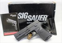 Sig Sauer P250c semi-automatic pistol ~ 9mm ~ MASS COMPLIANT ~ Box, Manual & Manual