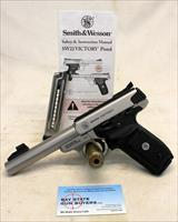 Smith & Wesson VICTORY SW22 semi-automatic Target pistol ~ .22LR ~ Manual & Magazines