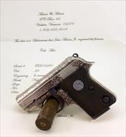 Colt Automatic 1908 Pistol ~ .25acp ~ ENGRAVED BY JOHN ADAMS, Jr.
