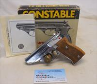 Astra CONSTABLE Sem-automatic Pistol ~ .22LR  ~ CHROME Finish ~ Box & Manual