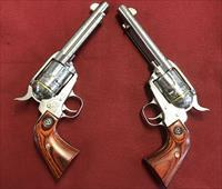 Pair of engraved Ruger Vaquero's in 45Lc