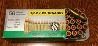 SELLIOR & BELLOT 762X25 TOKAREV AMMO very rare and hard to find