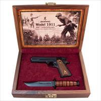 "BROWING 1911-22 A1 22 LR 4.25"" 10 RD + ANNIVERSARY CASE& KABAR KNIFE"