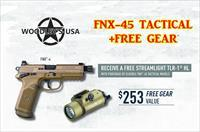 FNH FNX-45 Tactical - FREE GEAR* - **QUALIFIED PROFESSIONALS ONLY - See Description for Details**