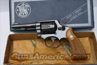 "MUST SEE  Vintage Smith & Wesson Model 10 Military 38 Revolver  BLUE 4 Inch Pinned Barrel Like New In Box  "" i Trade """