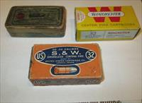 53 Rds 32 S&W ammo w/ collectible boxes