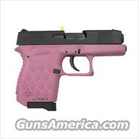 Diamondback Firearms 9mm Auto Polymer Frame, 6+1 Black Slide/Pink Frame