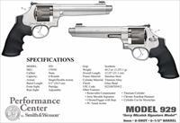 "Smith & Wesson 929 Performance Center DA/SA 9mm 6.5"" 8rd SS Titanium Cyli"