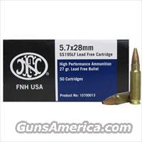 500 RDS FNH 5.7x28 Ammo Lead Free ss195LF 27 Grain Hollow Point!!!! Give Us A call Today!!!