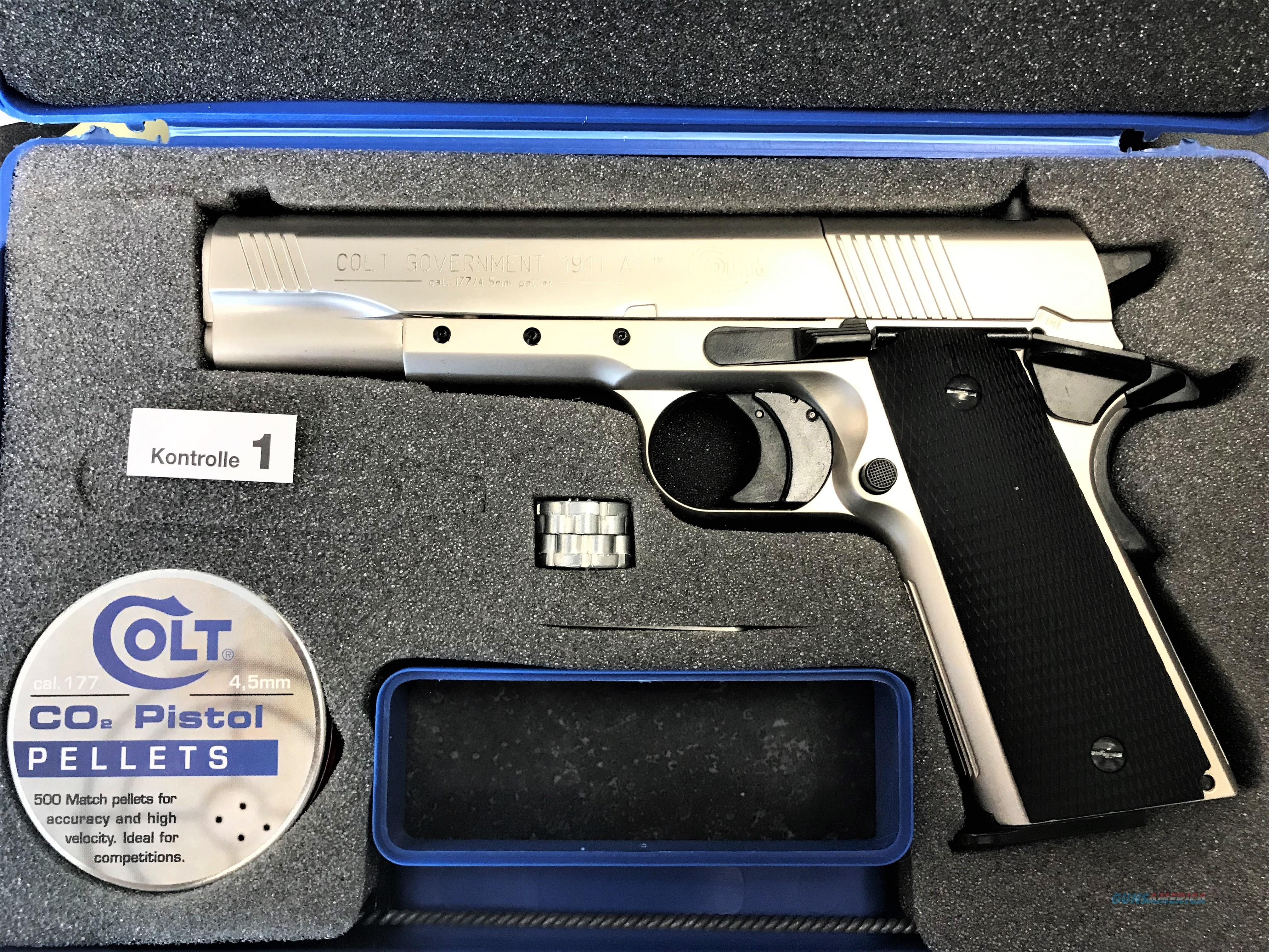 Original Colt German Made 1911 A1 Nickel CO2 4 5mm (1 77) Pistol