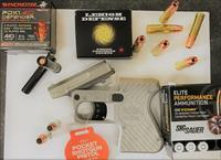 Heizer 100% USA MADE 45/410 Stainless Pocket Pistol With 3 Boxes of Premium Ammunition.