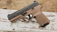 "Sig Sauer, P320 Compact, Striker Fired, 40 S&W, 3.9"" Barrel, Polymer Frame, FDE /Nitron Finish, SigLite Night Sights, 13Rd Magazine, with 1913 Rail"