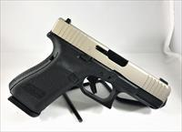 Custom Glock 19 Gen5, Front Serrations, Thin Line Slide Porting, Stainless Finish, Tritium Night Sights, 15Rd, 3 Magazines, Ambidextrous Slide Stop Lever, Flared Mag Well.