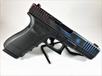 Custom Glock 21 45ACP, Red, White & Blue Finish, Tritium Sights, Front Serrations, Thin Line Slide Porting, 13Rd, 3 Magazines