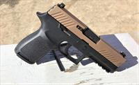 "Sig Sauer, P320C, Striker Fired, Compact, 9MM, 3.9"" Barrel, Polymer Frame, FDE Duotone, Polymer Grips, Night Sights, & 2 15Rd Magazines! P320 320"