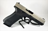 Custom Glock 17 Gen5, Front Serrations, Thin Line Slide Porting, 9MM, Stainless Finish, Tritium Sights, 17Rd, 3 Magazines