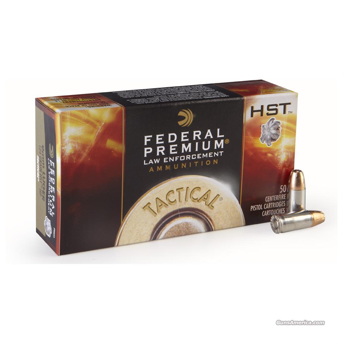 Federal Tactical HST 9mm 124gr +P P9HST3 Ammo Ammunition outperforms Speer  Gold Dots GDHP 124 grain