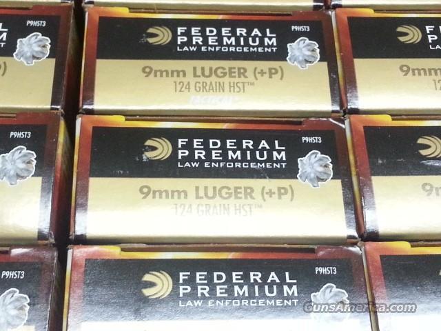 Federal Tactical HST 9mm 124gr +P P9HST3 Ammo Ammunition Better than Speer  Gold Dots GDHP 124 grain