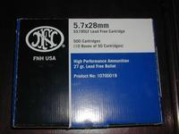 FNH SS195LF & Elite T6B 5.7x28mm ammo
