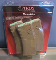 Troy Industries Battlemag / 30rd FDE / 3 pack