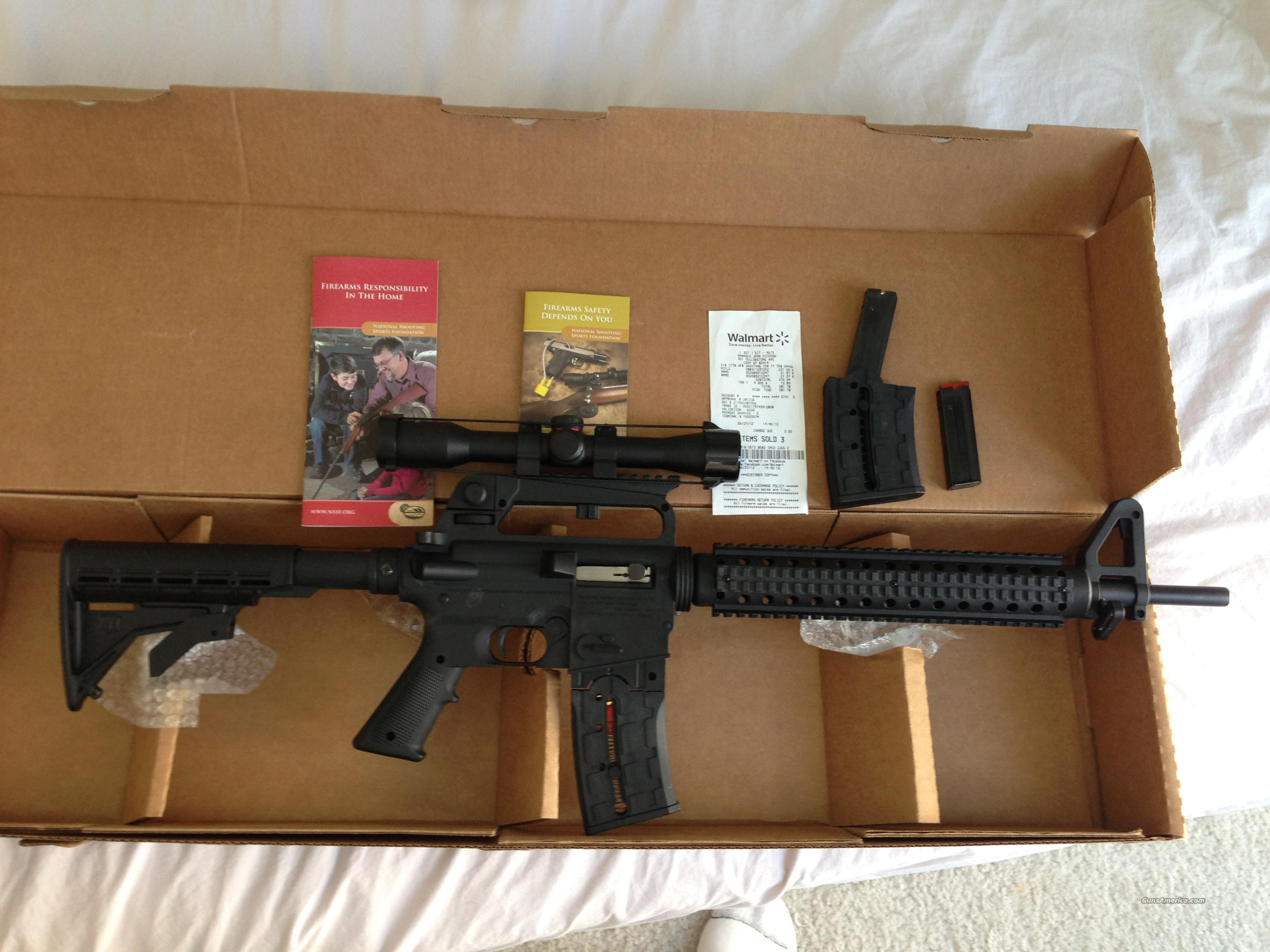 ***** MOSSBERG 715T TACTICAL  22LR WITH SCOPE 3 MAGAZINE ALMOST NEW SEMI  AUTOMATIC RIMFIRE RIFLE NOT AR 15