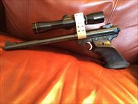 RUGER MARK II .22 CAL. TARGET W/LEUPOLD 4 BY 8 SCOPE
