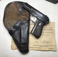 NAZI SS MARKED CZ 27 PISTOL GROUPING WITH DOCUMENTS