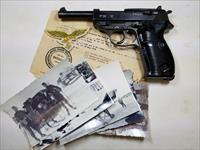 RARE NAZI P38 MAUSER 1944 GROUPING WITH CAPTURE PAPERS AND DOCUMENTS