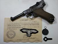 NAZI SS LUGER BLACK WIDOW GROUPING RARE