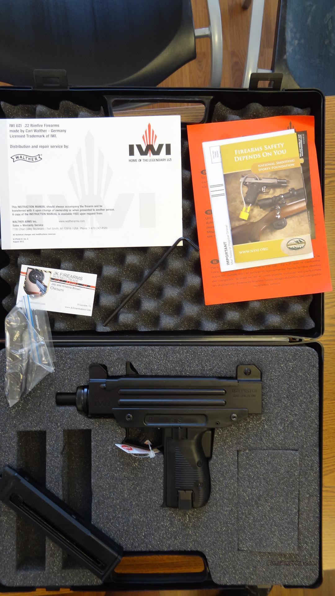 Uzi Pistol 22LR 20RD NIB Black by Walther