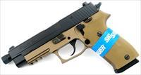 "SIG P220 COMBAT .45ACP 5"" NIGHT SIGHTS 8-SH FDE/BLACK"