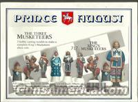 PRINCE AUGUST 3 MUSKETEERS CHESS CASTING MOULD SET, #717