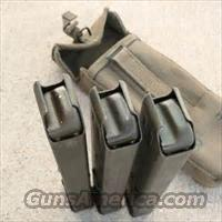 3 UZI MAGS WITH CANVAS POUCH, GERMAN MILITARY, FREE SHIPPING