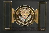 RARE UAE GENERAL OFFICER'S 2-PIECE BELT BUCKLE