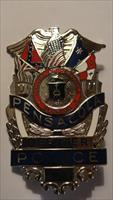 PENSACOLA POLICE OFFICER BADGE, Full-Size, STARS and BARS Confederate Flag. FREE SHIPPING.