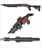 Customized Tactical / Home Defense Shotgun with 4 Picatinny Rails & 9 Shell Holder - BLACK