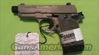 SIG SAUER P938 938 SCORPION THREADED 9MM 6/7RD FDE