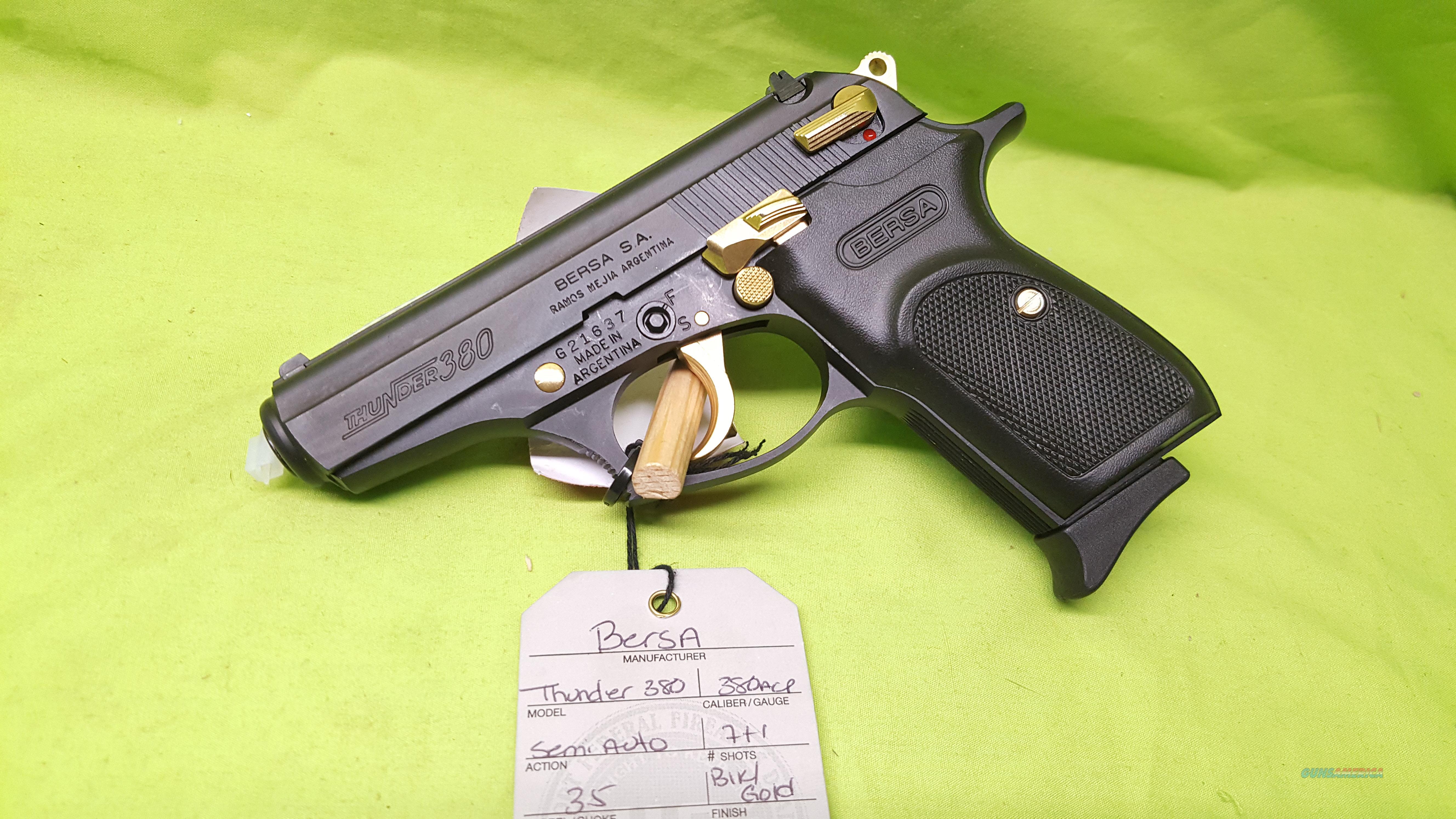 Bersa Thunder 380 Black Gold 380 Acp 35 71 For Sale