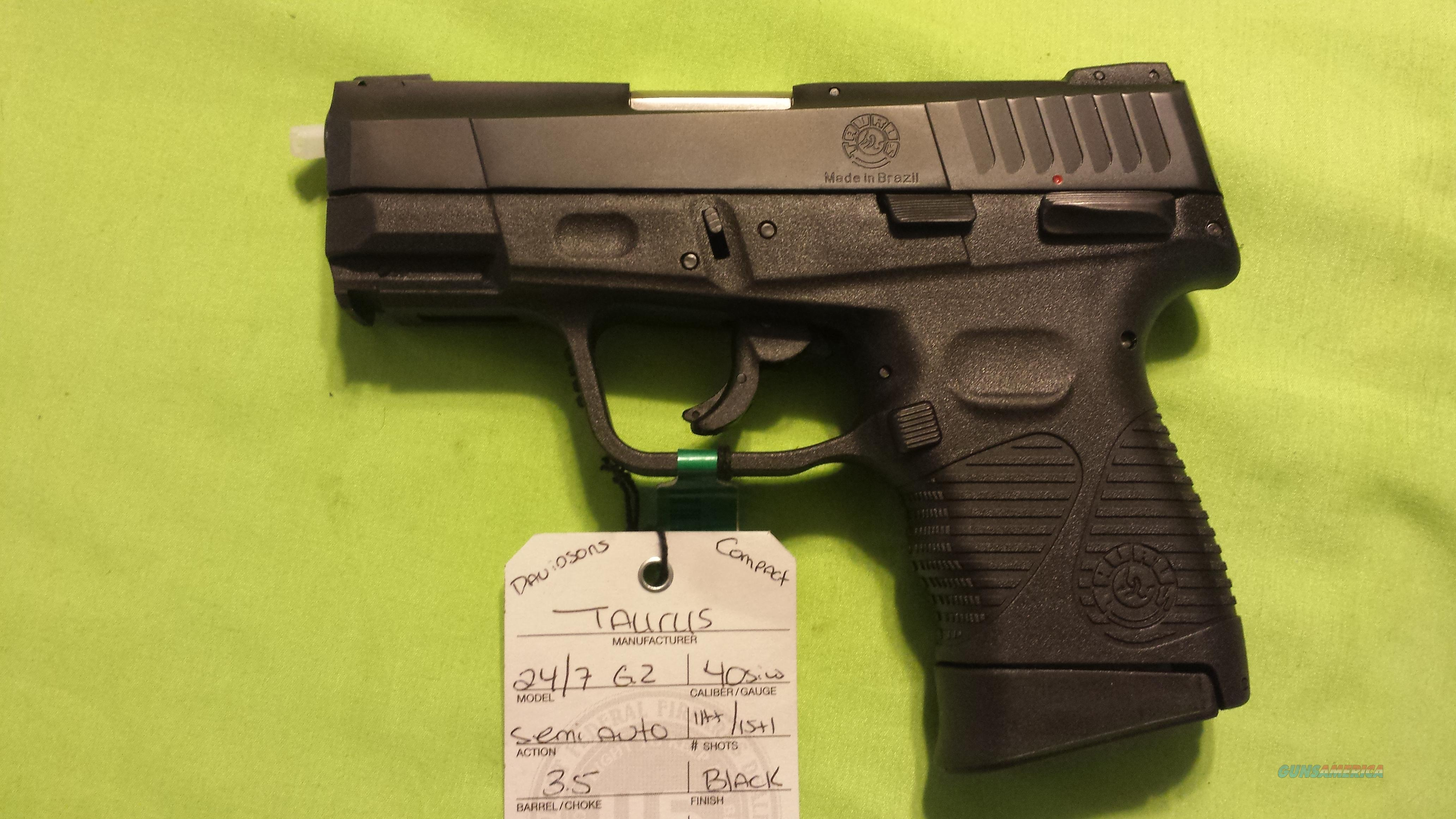 TAURUS PT247 24/7 G2 40 S&W COMPACT 15/11RD 3 5
