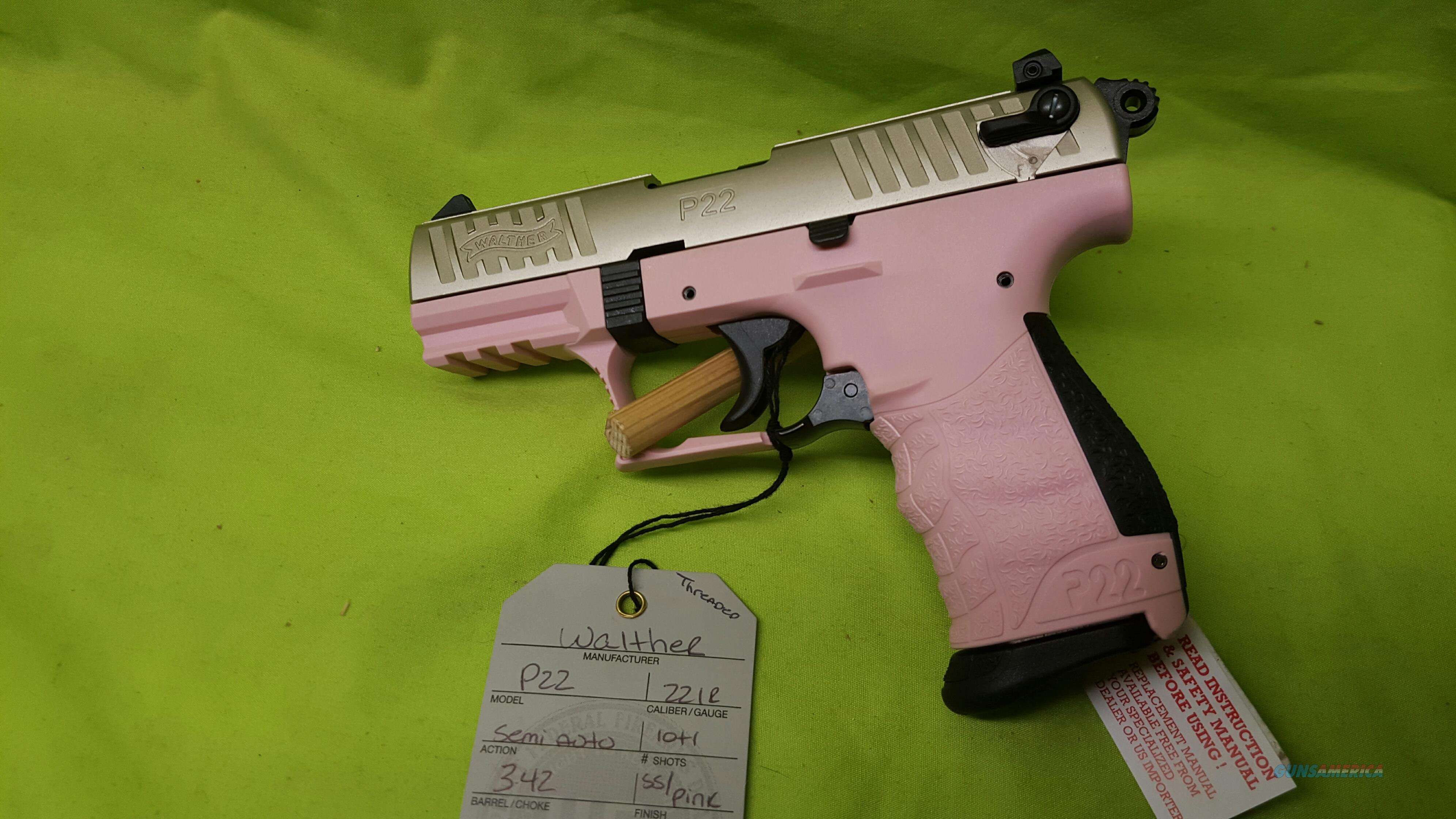 WALTHER P22 22 LR 3 4