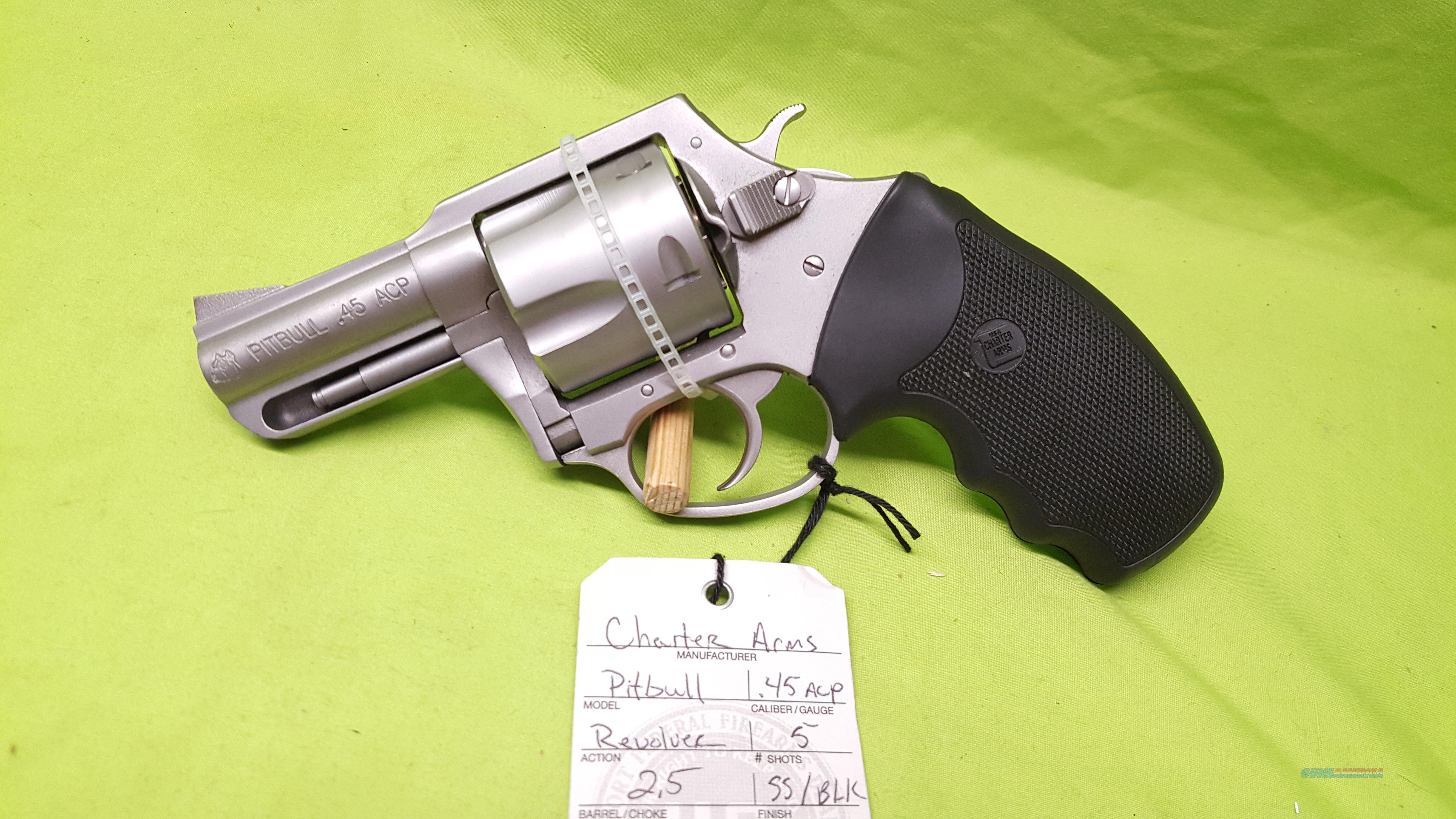CHARTER ARMS PITBULL 45 45ACP REVOLVER STAINLESS