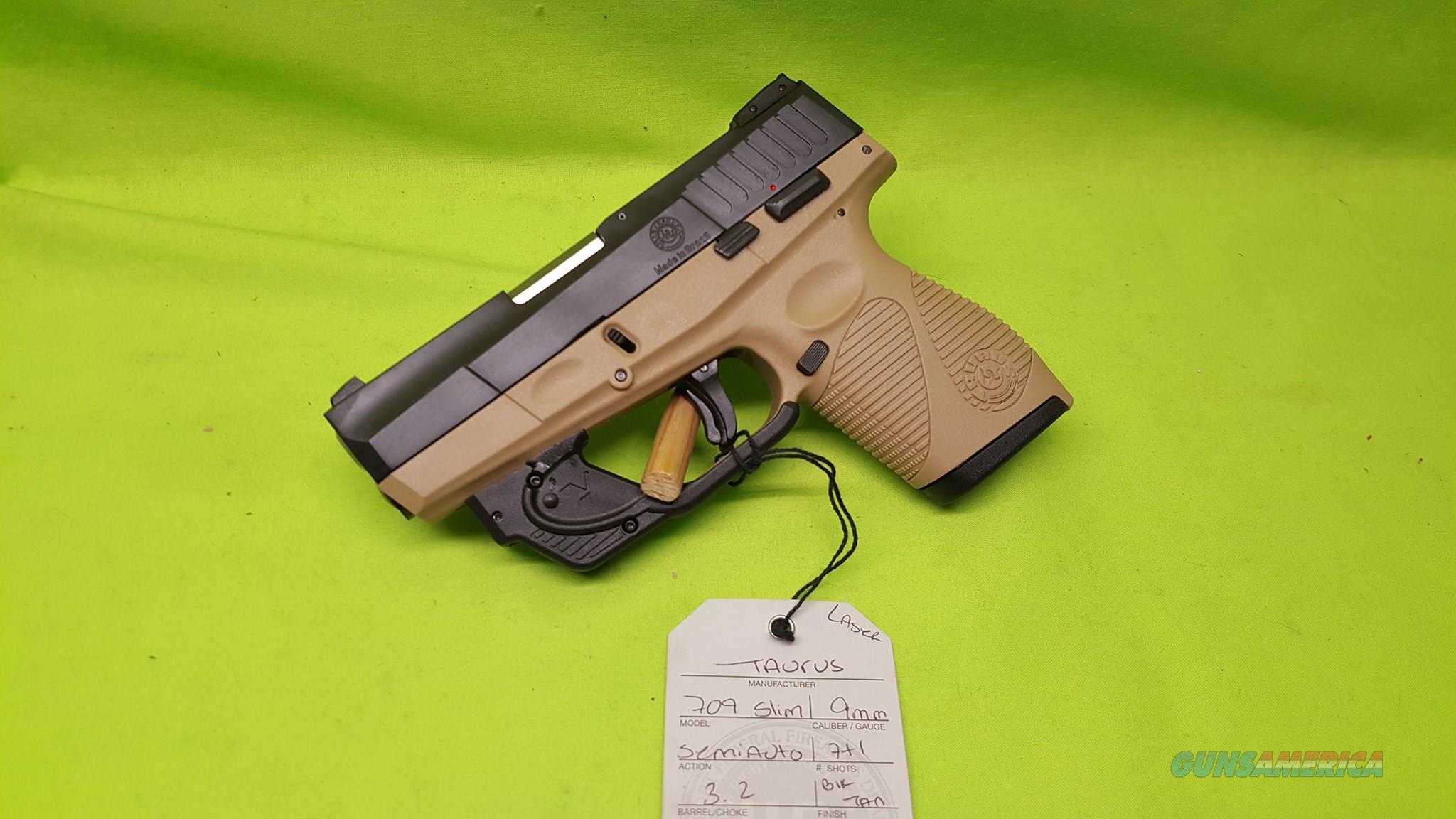 709 slim 9mm pistol - Taurus 709 Slim Pt 709 9 9mm Fde Tan 3 2 7 1 Laser Guns