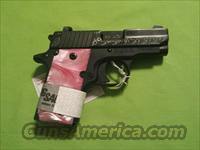 SIG SAUER P238 238 380ACP 6RD BLACK PINK ENGRAVED