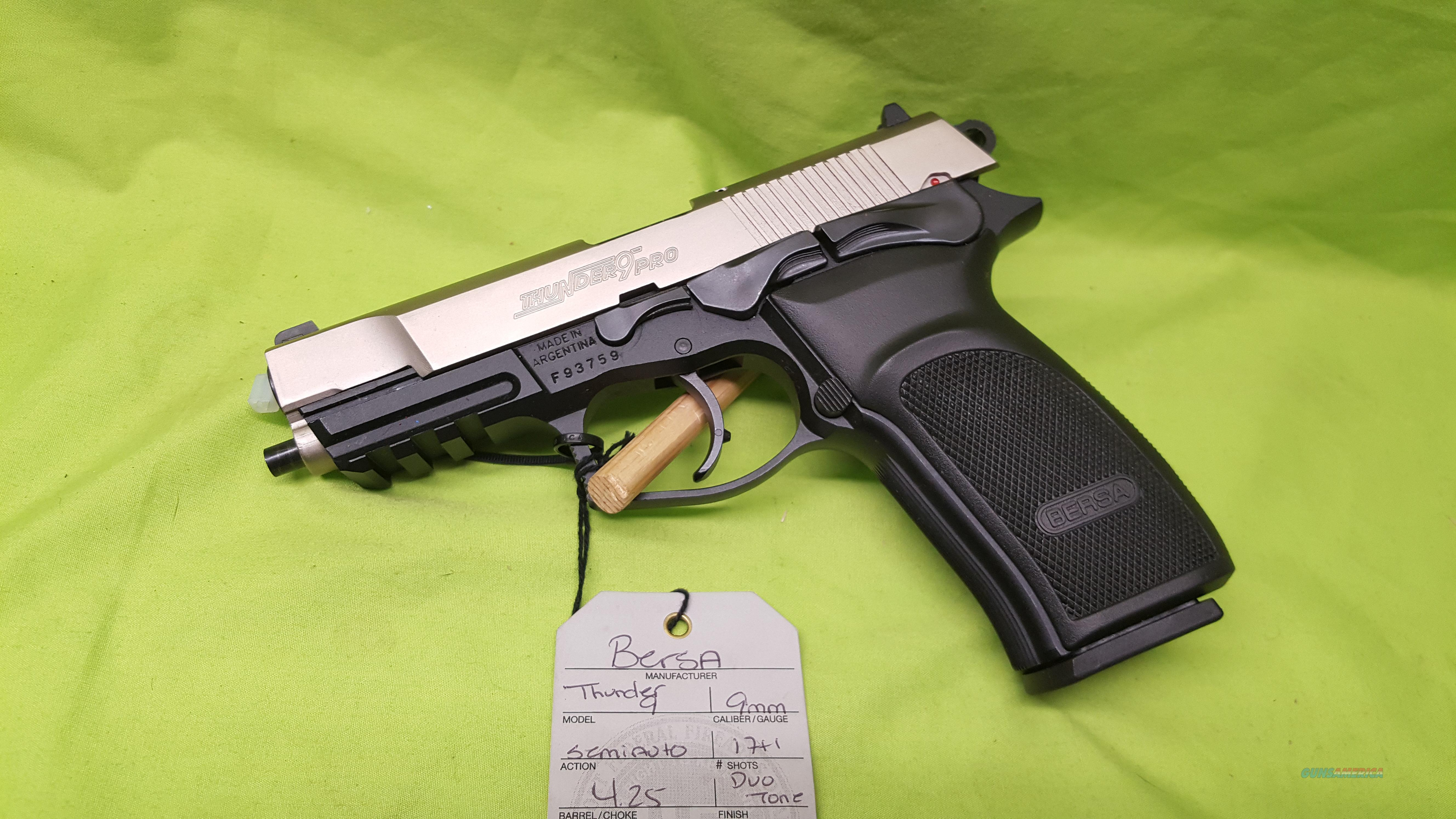 BERSA THUNDER 9 HIGH CAPACITY 9MM 17+1 4 25