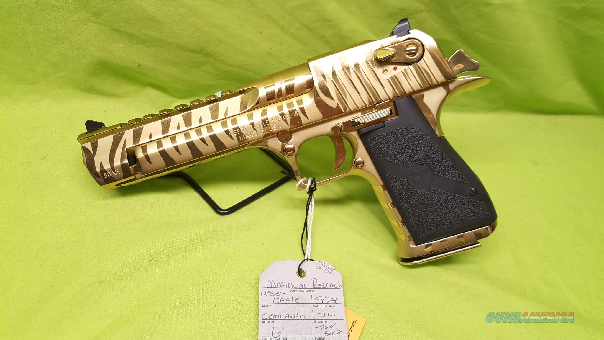 Magnum Research Gold Tiger Desert Eagle 50ae Mk For Sale